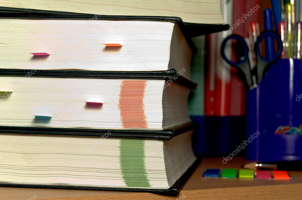 Stack of hardcover books  — Stock Photo #2180916