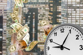 Concept - Time is money. — Stock Photo
