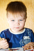 Adorable 2 year old boy. — Stock Photo