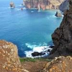 vista para o mar no ponto de sao lorenco — Foto Stock