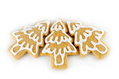 Christmas tree gingerbreads — Stock Photo