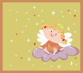 Girl an angel — Stock Vector