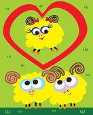 Sheep love — Stock Vector