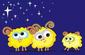 Sheep family — Stock Vector