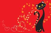 Enamoured cat — Stock Vector