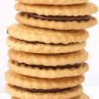Stack of shortbread butter biscuits — Stock Photo #2587392