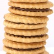 Stack of shortbread butter biscuits — Stock Photo