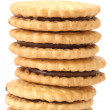 Stack of shortbread butter biscuits — Stock Photo #2587743