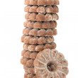 Royalty-Free Stock Photo: Stack of shortbread cocoa biscuits