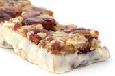Muesli bar in yogurt — Stock Photo