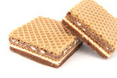 Filled wafer with chocolate — Stock Photo