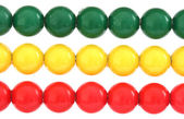 Rows of colorful balls on abacus — Stock Photo