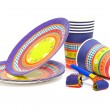 Stock Photo: Birthday plates and cups