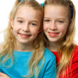 Stock Photo: Two young blonde girls