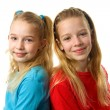 Stock Photo: Two young girls looking in camera