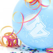 Stock Photo: Blue birthday balloon with number 40