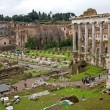 Roman Forum Romanum in Italy - Stock Photo