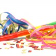 Stock Photo: Party horn with streamers
