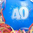 Birthday balloon with the number 40 — Stock Photo