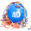 Birthday balloon with the number 40 - Stock Photo
