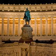 Statue on Piazza Venezia Rome — Stock Photo