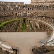 Inside the Colosseum in Rome - Stock Photo