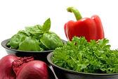 Fresh dinner ingredients — Stock Photo