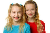 Two young blonde girls — Stock Photo