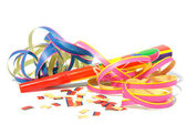 Party horn with streamers — Stock Photo