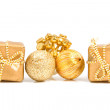 Golden presents and decoration — Stock Photo #2206449