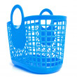 Blue plastic shopping bag — Stock Photo