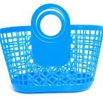 blauwe plastic boodschappentas — Stockfoto