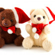 Two stuffed christmas bears — Stock Photo