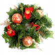 Green christmas wreath — Stock Photo