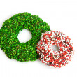 Speckled christmas candy wreat — Stock Photo