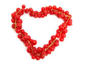 Red berries in the shape of hearts — Stock Photo