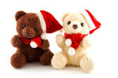 Two stuffed christmas bears — Foto de Stock