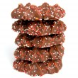 Stacked chocolate speckled  cookies - Stock Photo