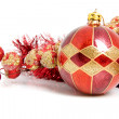 Christmas ball with decoration — Stock Photo