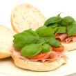 Fresh healthy sandwich — Stock Photo