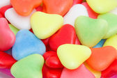 Background of hearts candy — Stock Photo