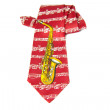 Necktie with a saxophone on it — Stock Photo