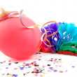 Stock Photo: Balloon and party streamers
