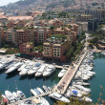 Port the fontvieille Monaco — Stock Photo