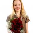 Girl with roses — Stock Photo #2532594