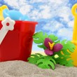 Plastic toys for beach and vacation - Stockfoto