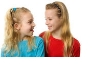 Two girl laughing — Stock Photo