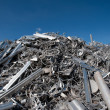 aluminum scrap — Stock Photo