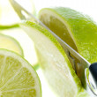 Fresh lime slices - Stock Photo