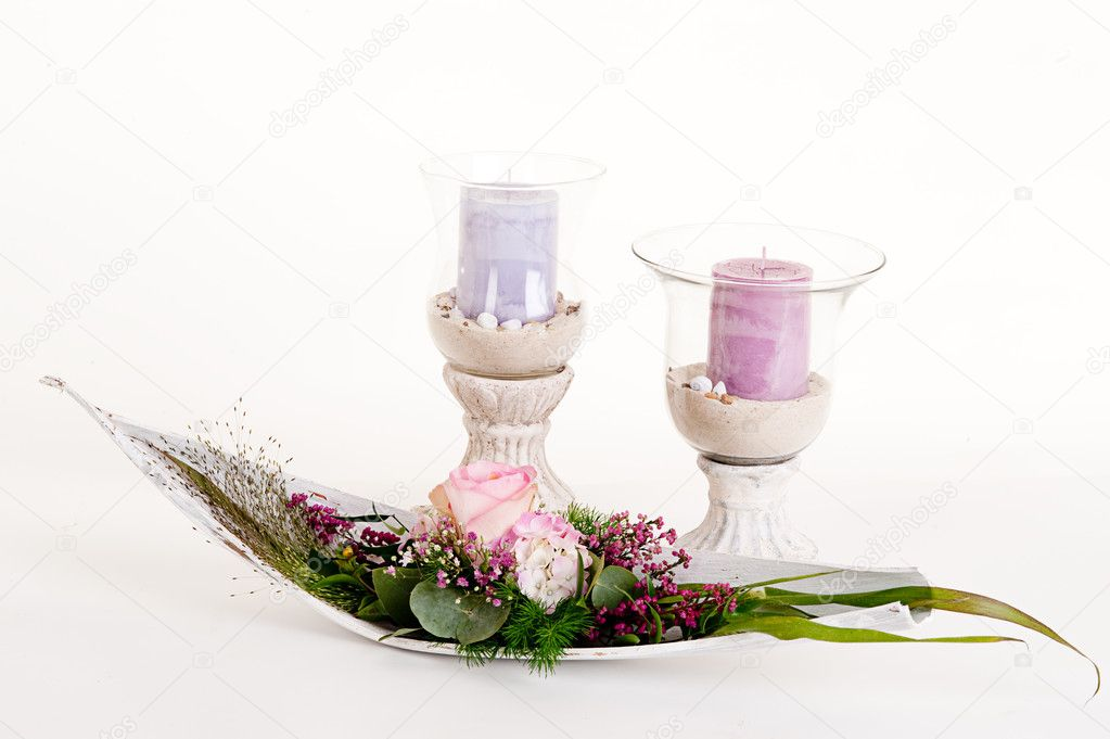 Floral arrangement in a bowl deko  Stock Photo #2179019